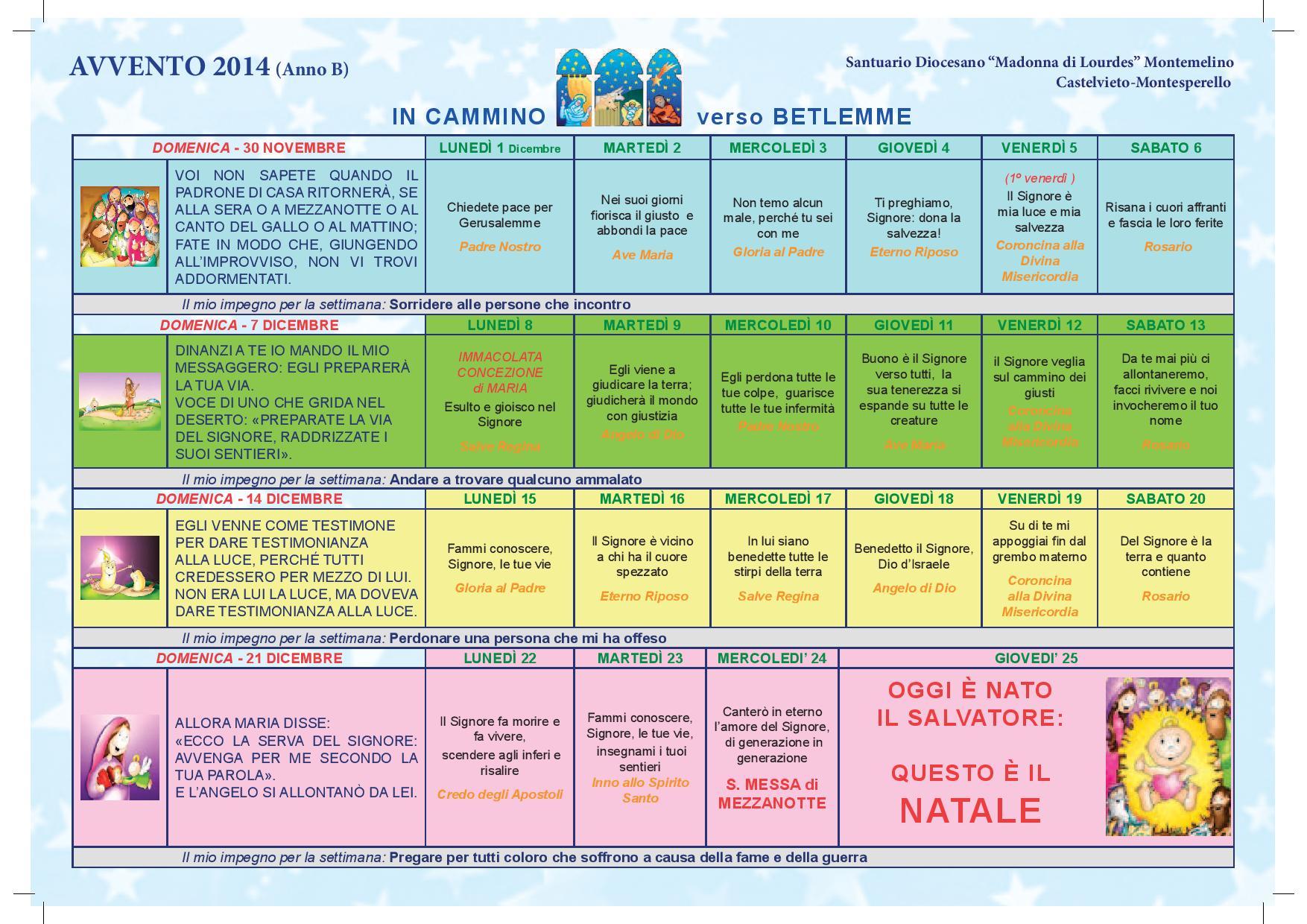 Calendario Anno 2014.Calendario D Avvento 2014
